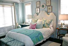 Serene blue bedroom from Cote de Texas