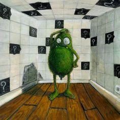 Green little monster... (acrylic)