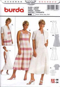 b5535c1ebb sukienka letnia i żakiet - wykrój BURDA Wyszywane Wzory