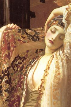 Light of the Harem, 1880 Frederic Leighton Painting Accessories, Bekannte Maler, Woman Painting, Painting & Drawing, Frederick Leighton, Classical Art, Pre Raphaelite, Romanticism, Artwork