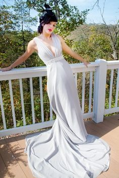 Silver Gray 1920s Wedding Dress  Eleanore by thepeppermintpretty, $800.00