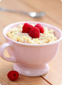 Creamy Breakfast Bowls: http://chocolatecoveredkatie.com/2014/06/24/how-to-cook-millet/