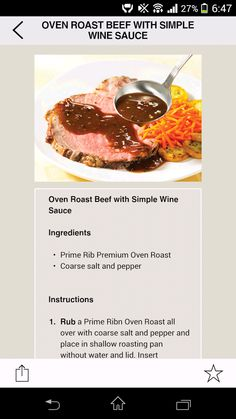 You can also make the recipe with more price-conscious beef oven roasts such as Eye of Round or Sirloin Tip. Oven Roast Beef, Boneless Ribs, Sirloin Tips, Wine Sauce, Beef Broth, Prime Rib, Roasts, Roasting Pan