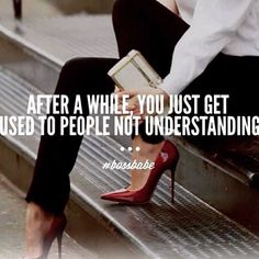 After a while, you just get used to people not understanding. You really do. You can't teach vision. #bossbabe #ladyboss #vision #entrepreneur #success #beauty #focus #iclosedealsinheels #quote