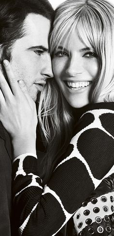 ~British couple Sienna Miller and Tom Sturridge in the latest Burberry A/W13…