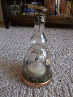 Antique Prince Musical Bottle Decanter Works Well Wedding Couple Dancing