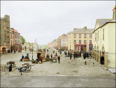 the square, kilrush, county clare 1903 (davidsargeant.com) Tags: ireland 1903 colourized countyclare kilrush davidmsargeant