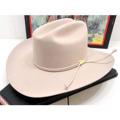 Stetson Cowboy Hat 6X Beaver Fur Felt Silverbelly Carson 7f7f19abf637