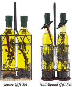 Olive Oil & Balsamic Vinegar Gift Sets from Hongar Farms… great hostess gifts.