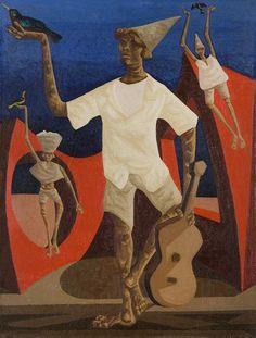 Boy(1970) - Oil on Canvas - Clovis Graciano.