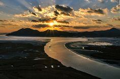 Korea Suncheon Bay sunset