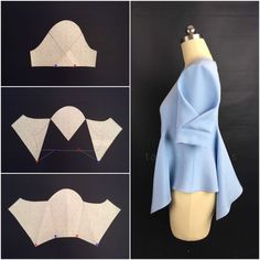 "― Tatiana Ballosさん( 「Русский⬇️ You were asking. So here it is - pattern manipulation for this ""envelope sleeve"" 🇷🇺 Вы…」 Sleeves Designs For Dresses, Sleeve Designs, Dress Sewing Patterns, Clothing Patterns, Pattern Sewing, Fashion Sewing, Diy Fashion, Trendy Fashion, Fashion Details"