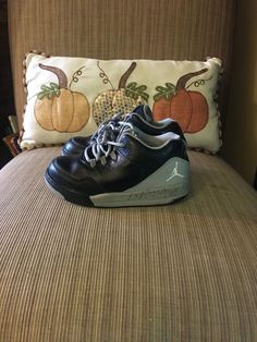 a1489a78de143 Boys Nike Jordans Grey Black and White Shoes 705162-001 Size 9C  fashion