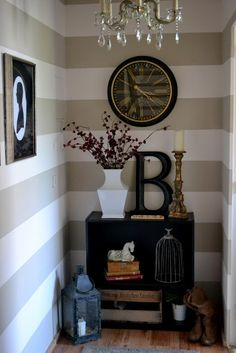 the poor sophisticate: Hall Reveal! Mud room