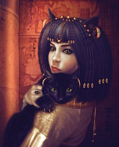 Bastet was the goddess of fire, cats, and of the home