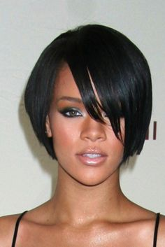 Smooth Exquisite Rihanna's bob Hairstyle Lace Wig Real Human Hair 8 Inches Smooth Exquisite Rihanna's bob Hairstyle Lace Wig Real Human Hair about 8 Inches Rihanna Hairstyles, Prom Hairstyles For Short Hair, 2015 Hairstyles, Short Hair Cuts, Short Hair Styles, Black Hairstyles, Rihanna Haircut, Teenage Hairstyles, Frontal Hairstyles