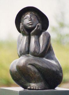 bronzen beeld Lente in Drenthe