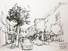 #seoul #yeonnamdong #SketchOn #urbansketchers #sketchwalker #KamPD #pendrawing #韩国 #首尔 #延南洞 #钢笔画 #연남동 #스케치온 #미연회 #펜드로잉 @sketch_onnn  #Regram via @drawings_by_kam.pd Ink Pen Drawings, Sketchbook Drawings, Art Sketches, Manga Drawing, Line Drawing, Gyeongju, Handwriting Styles, Examples Of Art, Pencil Painting