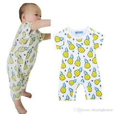 Petit Lem Big Girls Pineapple Summer Romper
