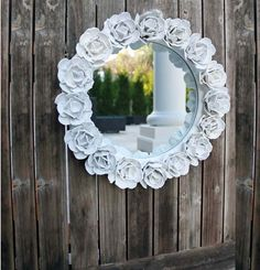 Mirror decoration made from egg cartons