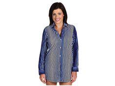Tommy Bahama Women's Twilight Stripe Boyfriend Shirt Cover Up Size Small  #TommyBahama #CoverUp