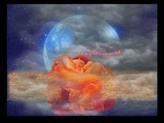 DREAMING OF THE MOON. Digital Collage. Shelby Pizzarro. Sisterhood of the Muse.  Lunagirl Moonbeam Design Team