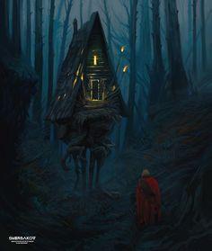 Baba Yaga's hut by Stanislav Sherbakov