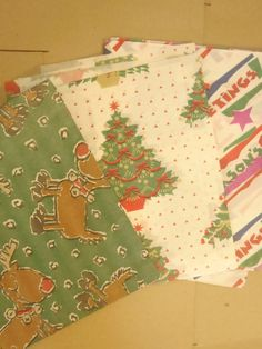 Vintage Christmas Bundle Tissue Paper 6 Sheets by ChicEventsDecor on Etsy
