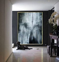 Large Original Abstract Painting On Canvas, black and white for wall art art handmade Acrylic from Studio Trend Gallery Large Canvas Art, Abstract Canvas Art, Large Painting, Oil Painting Abstract, Texture Painting, Large Art, Black Painting, Big Wall Art, Wall Art Prints