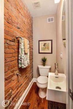 Half Bath- love the exposed brick