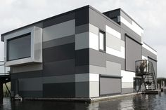 Floating houses Lelystad.EQUITONE facade panels.
