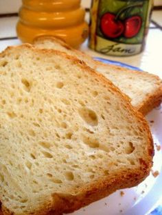A slice of gluten free bread to start off the morning. It rises in the dish you cook it in.