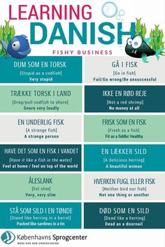 In Denmark, you're never more than 50 km from the sea, so it's no wonder that the Danish language is full of fishy expressions. Speak Danish, Danish Words, Danish Language Learning, Denmark Hygge, Danish Culture, Danish Christmas, Danish Royal Family, Learn A New Language, Good Communication