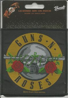GUNS N ROSES Logo Woven Patch Sew On Official Band Merch