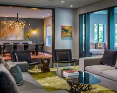 , Cool Contemporary Living Room Also Wonderful Branch Chandelier For Dining Room Also Modern Black Dining Furniture Also Modern Gray Sofa And Black Armless Chair Also Unique Branch Coffee Table With Glass Countertop: Light Up the Room with Beautiful Branch Chandelier!