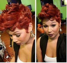 Dope Hairstyles, Cute Hairstyles For Short Hair, Pixie Hairstyles, Sassy Haircuts, Hairstyle Ideas, Hot Hair Styles, Curly Hair Styles, Natural Hair Styles, Short Sassy Hair