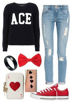 """Romantic Asexual"" by homophileandahalf ❤ liked on Polyvore featuring Kate Spade, Converse, Dorothy Perkins, Frame Denim, Forever 21, queer, ACE, sexuality, asexy and asexual"