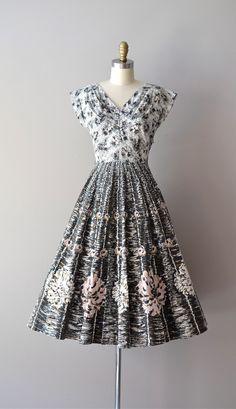 50s dress / vintage 50s dress / Moonage Dream. $214.00, via Etsy.