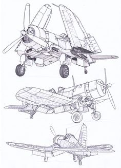 Vintage Aircraft – The Major Attractions Of Air Festivals - Popular Vintage Ww2 Aircraft, Military Aircraft, Airplane Art, Ww2 Planes, Aircraft Design, Technical Drawing, Aviation Art, Model Airplanes, Military Art