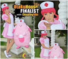 Pokemon Nurse Joy Cosplay with Chansey.