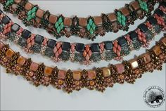 Kaira  Bead Woven Necklace Pattern by GQHPatternsandKits on Etsy, $8.00