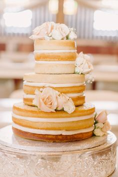 Rustic Vintage Wedding Cake