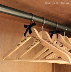 Guest Room Makeover: One Room Challenge Final Reveal - Driven by Decor>>>>I love the writing on the hangers just a little touch to make your guess fill at home..Gone to do this in my guess room.