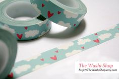 Clouds with Red Hearts-The Washi Shop