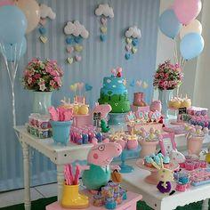 Ideas Birthday Cake Girls Kids Peppa Pig For 2019 Birthday Cakes Girls Kids, 2 Birthday, Pig Birthday Cakes, 2nd Birthday Parties, Bolo Da Peppa Pig, Cumple Peppa Pig, Birthday Party Decorations Diy, Girl Cakes, Peppa Pig Party Ideas