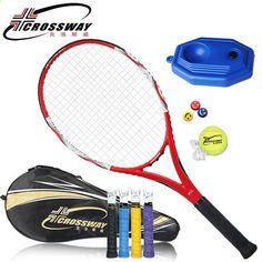 tenis de raqueta Raqueta de tenis de fibra de carbono de alta calidad CROSSWAY Raqueta de tenis de marca con bolsa para hombre y mujer Rackets, Tennis Racket, Sporty, Bag, Carbon Fiber, Man Women, Sports, Men