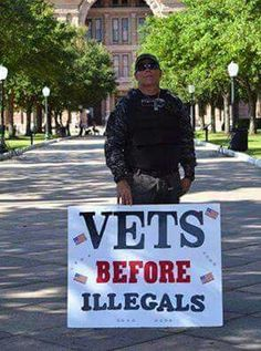 HONOR OUR VETS NOT ILLEGALS!
