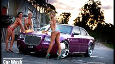 And Girl Muscle Wallpaper Exotic Car Car pictures Car Wash Girls, Car Girls, Pin Up Girls, Bikini Car Wash, Babe, Chrysler 300c, Car Tuning, Modified Cars, Girl Wallpaper