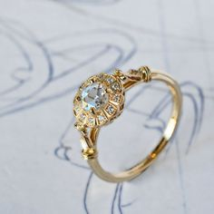 Elaborate diamond ring