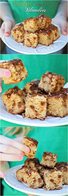 Recipes - This Pumpkin Blondie Recipe is not just delicious but perfect to share with friends and neighbors.